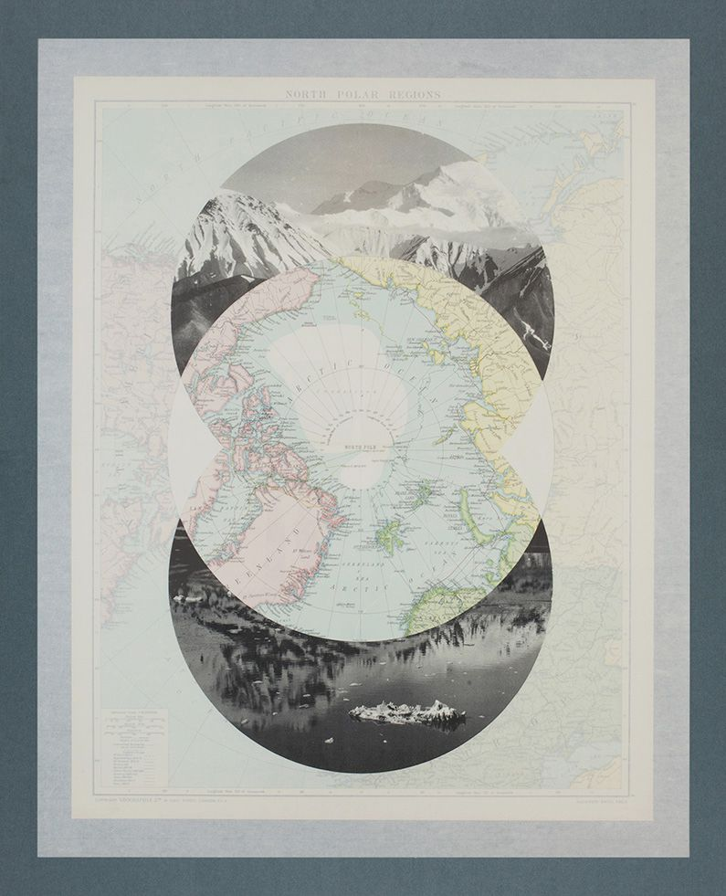 Elena Damiani, North Polar Regions from series The Victory Atlas, 2013, Collage