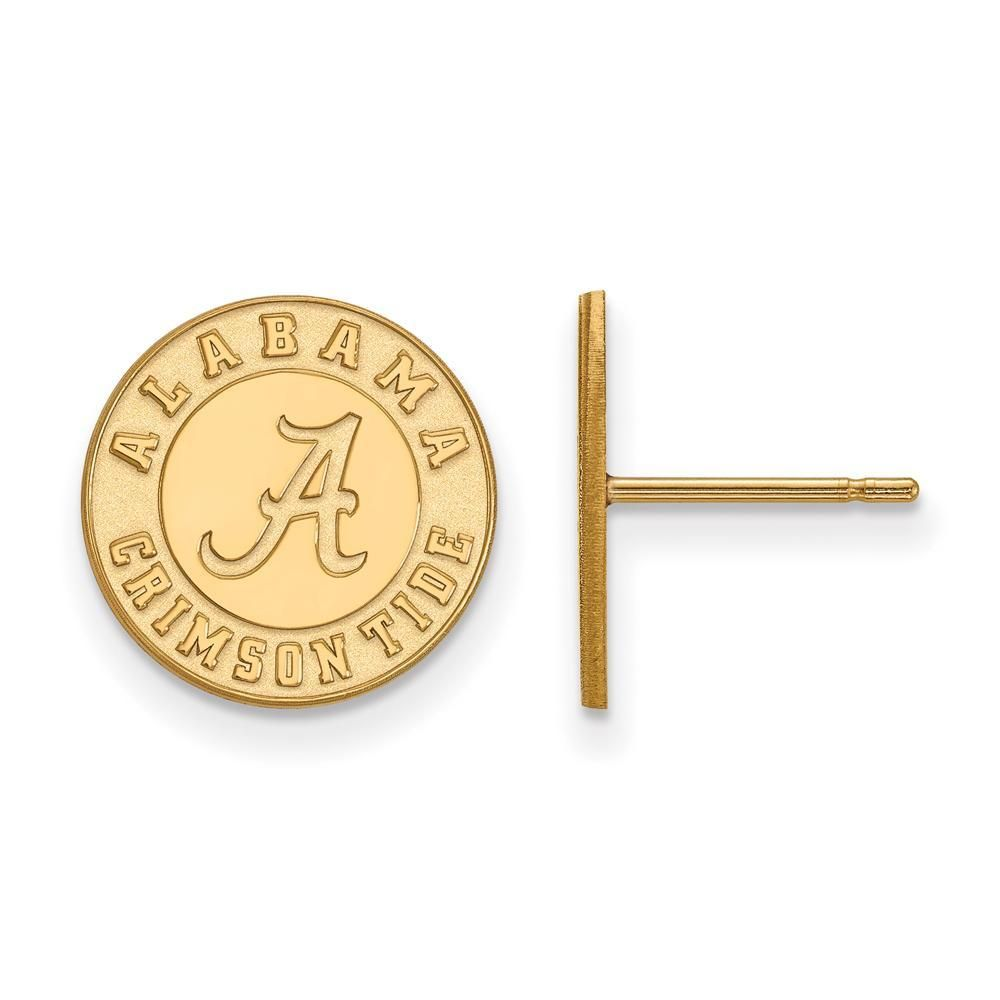 Gold-Plated Sterling Silver University of Alabama Large Dog Tag by LogoArt