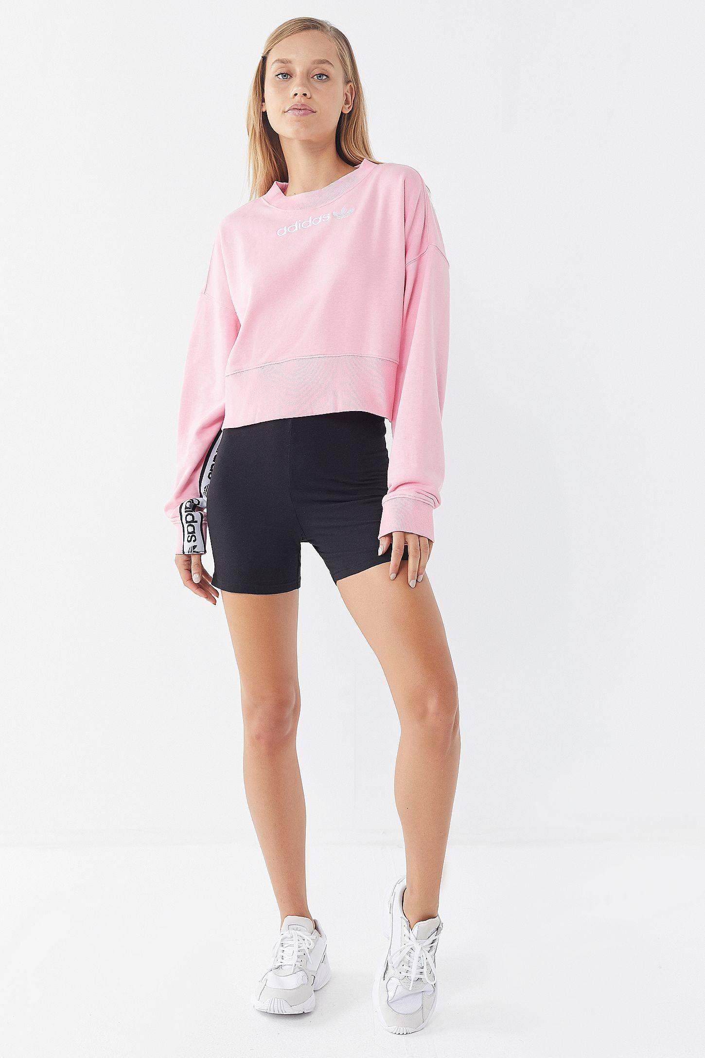 31f909869053 Slide View  4  adidas Originals Side Tape Cropped Sweatshirt