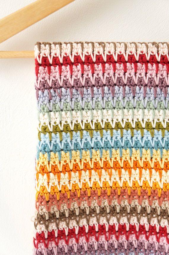 crochet bebé manta patrón brillante tiro patrón por LittleDoolally ...
