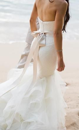 Wedding Dress with Bows