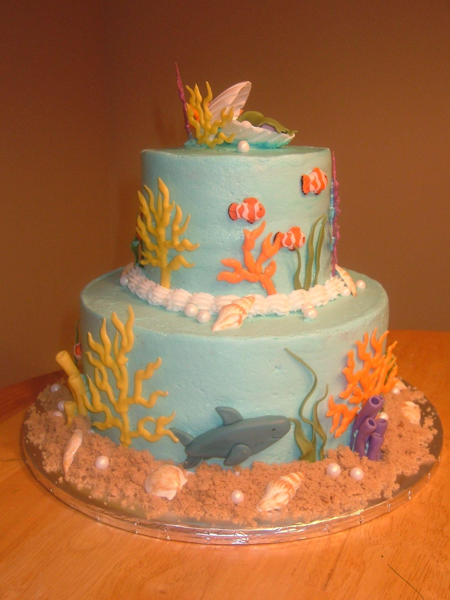 Baby Shower Cakes Ocean Theme Under The Sea Baby Shower Under