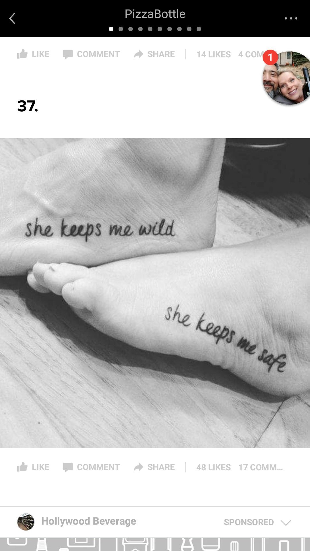 f565305f80d54 She keeps me wild He keeps me safe Wild Tattoo, Get A Tattoo, Keep