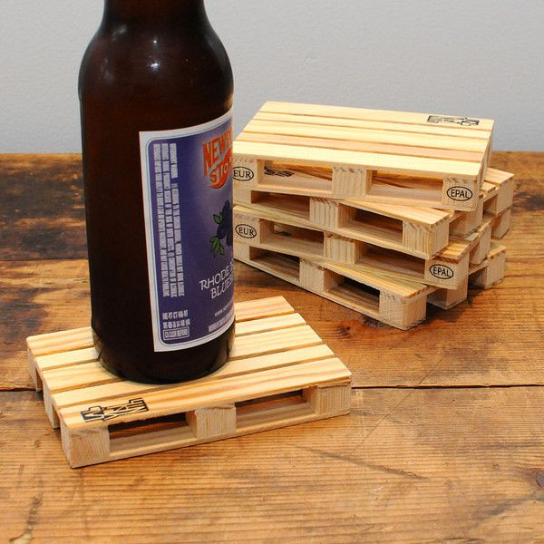 These Creative Man Cave Ideas Will Help You Relax In Style: Relax In Style With These Pallet Coasters.