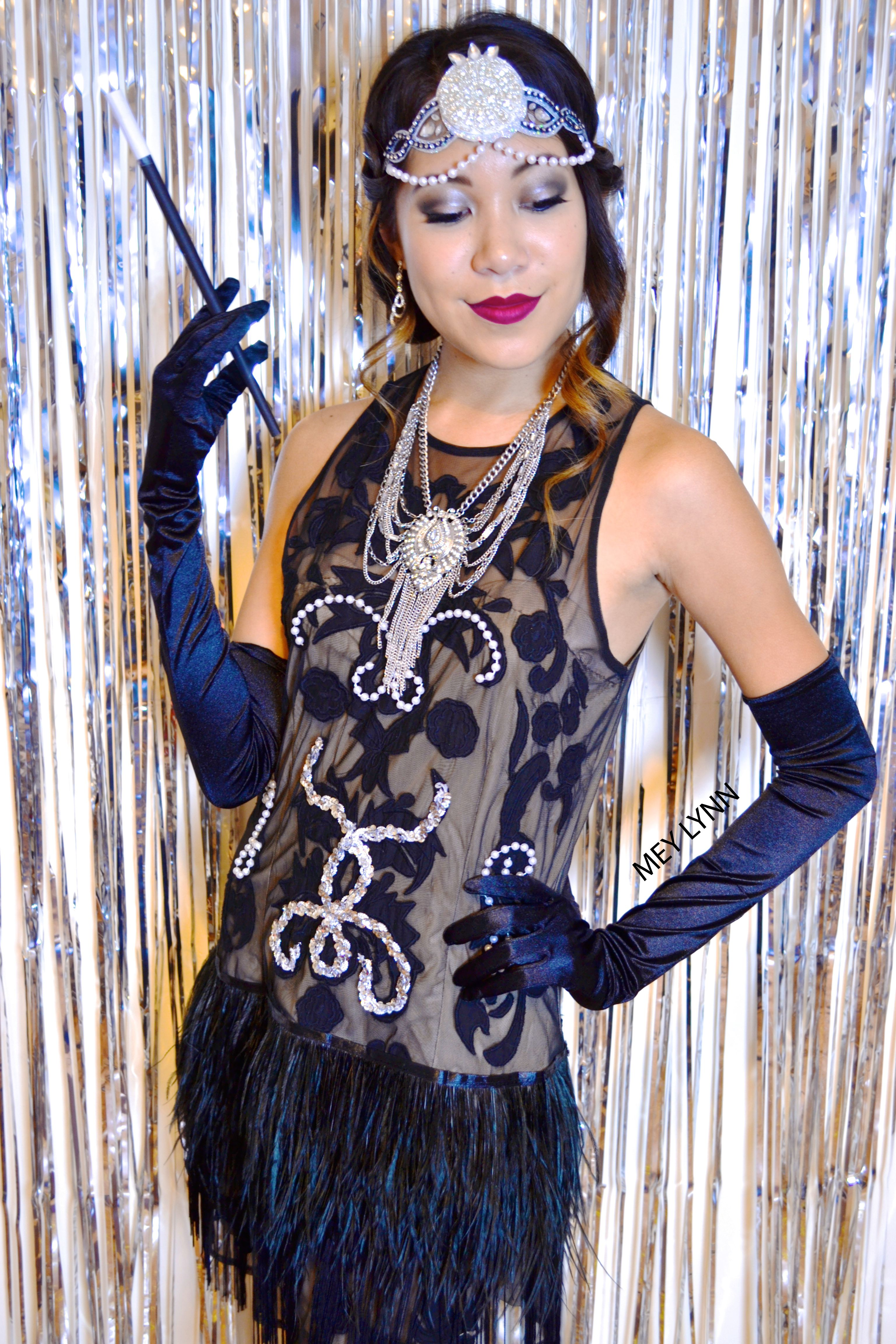 DIY The Great Gatsby 1920's Costume made from a dress you