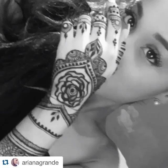 I Had A Great Opportunity Doing Henna For Ariana Grande Henna With Style And Passion For The Booking Questions Please Email Us On Henna Ariana Grande Tattoo Tattoos