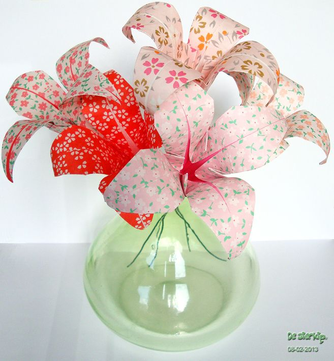 Origami Flowers handmade by De Sierkip