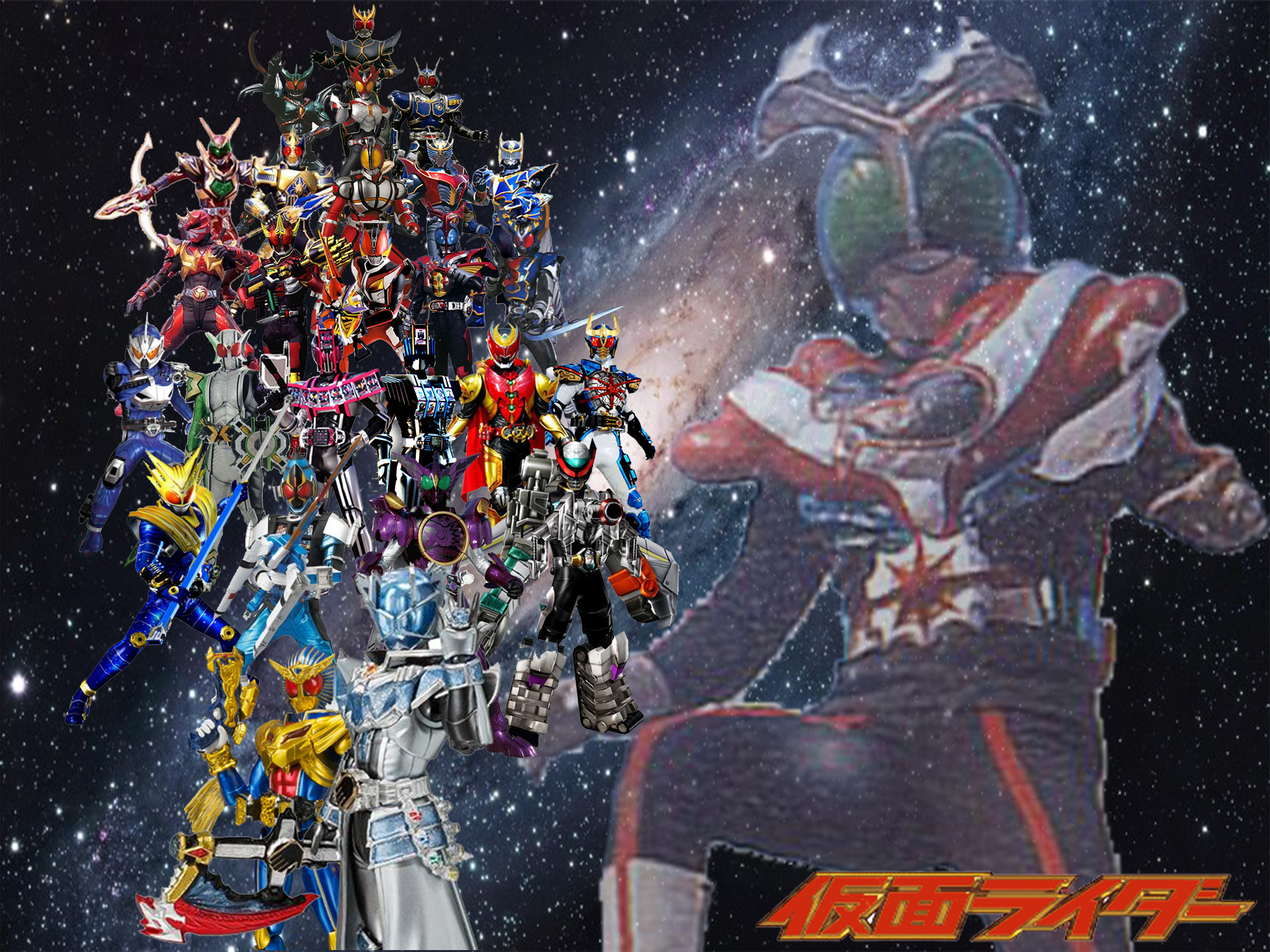 The final forms of all the Heisei era Kamen Riders along with the ...