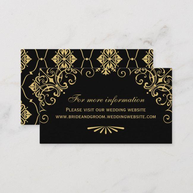 Wedding Website Card Art Deco Style Zazzle Com Wedding