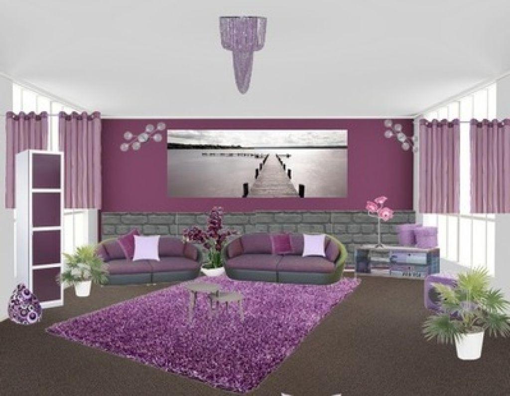 deko wohnzimmer lila moderne fliesen fr bad im