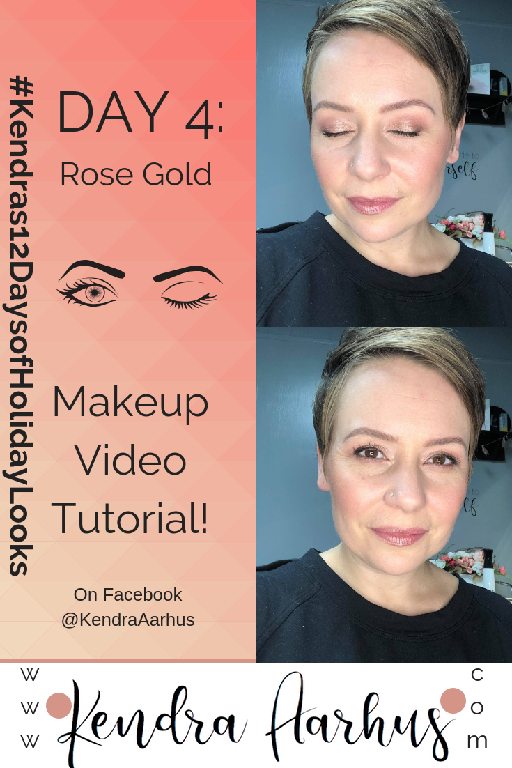 7794951ef844 12 Day of Holiday Looks Day 4  Rose Gold! Makeup Portfolio