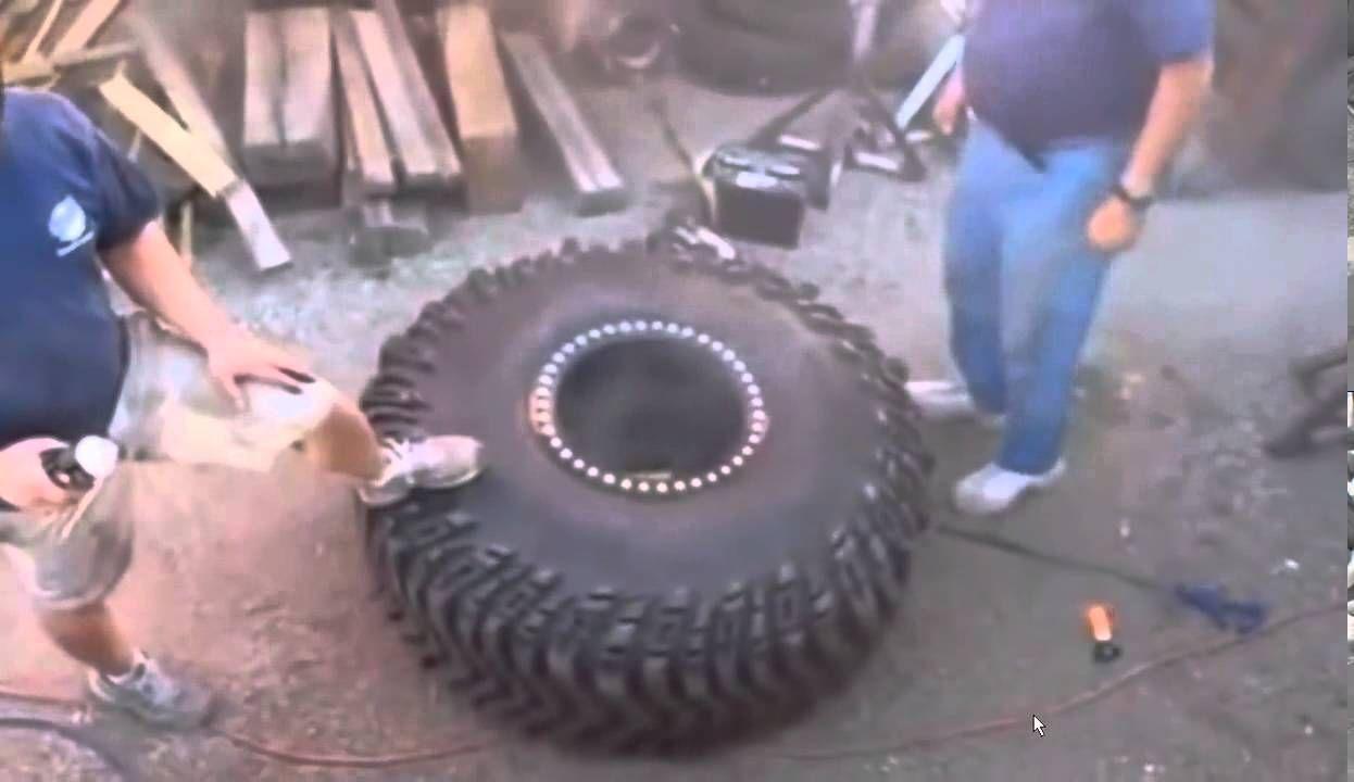 Foi encher pneu de trator e explodiu !!!