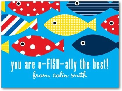 Fishtastic Friend Valentines Day Cards for Kids in Bora Bora – Friend Valentines Card