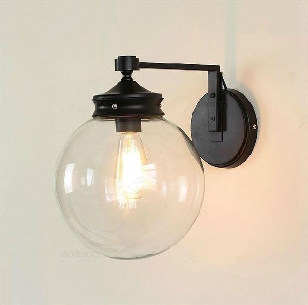 Buy Estilo minimalista rústico americano lámapra de pared redonda de espejo de vidrio with Lowest Price and Top Service!