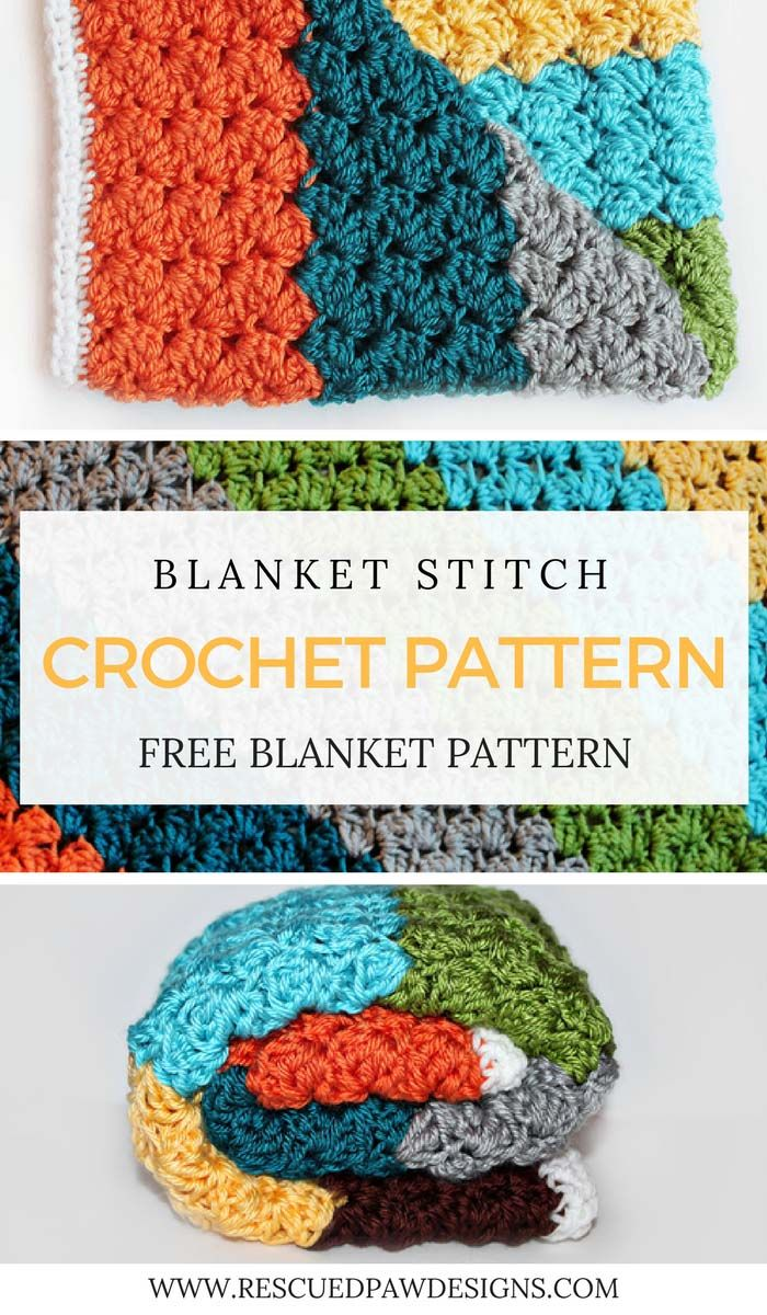 Blanket Stitch Crochet Pattern - Free Crochet Pattern - Click to ...