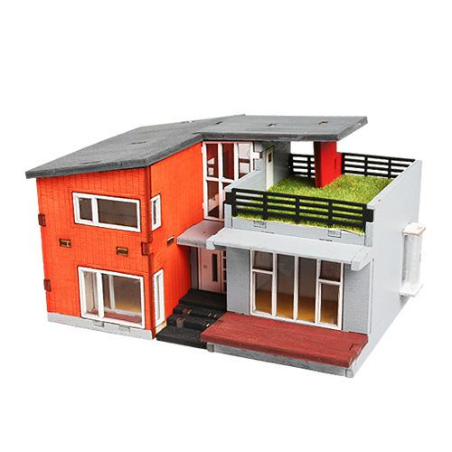 Wooden Model House Kits Korea Series Scale Models Modern House - Modern house kits