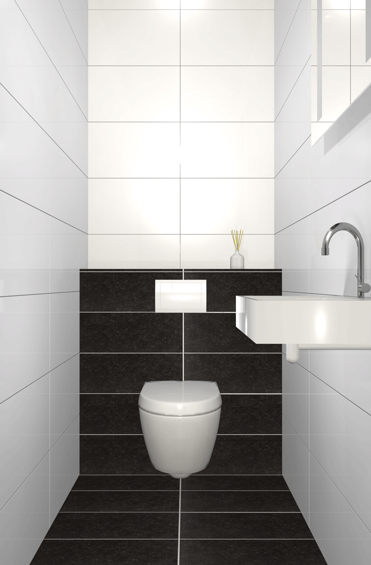 Procasa basics toilet impressie toilet pinterest toilet and modern - Wc mozaiek ...