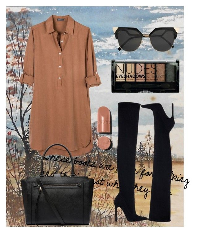 """Untitled #48"" by tinkara3 ❤ liked on Polyvore featuring Zara, United by Blue, Boohoo, Fendi, Chanel and Witchery"