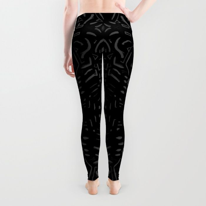Black art Leggings by ludodesign | Society6