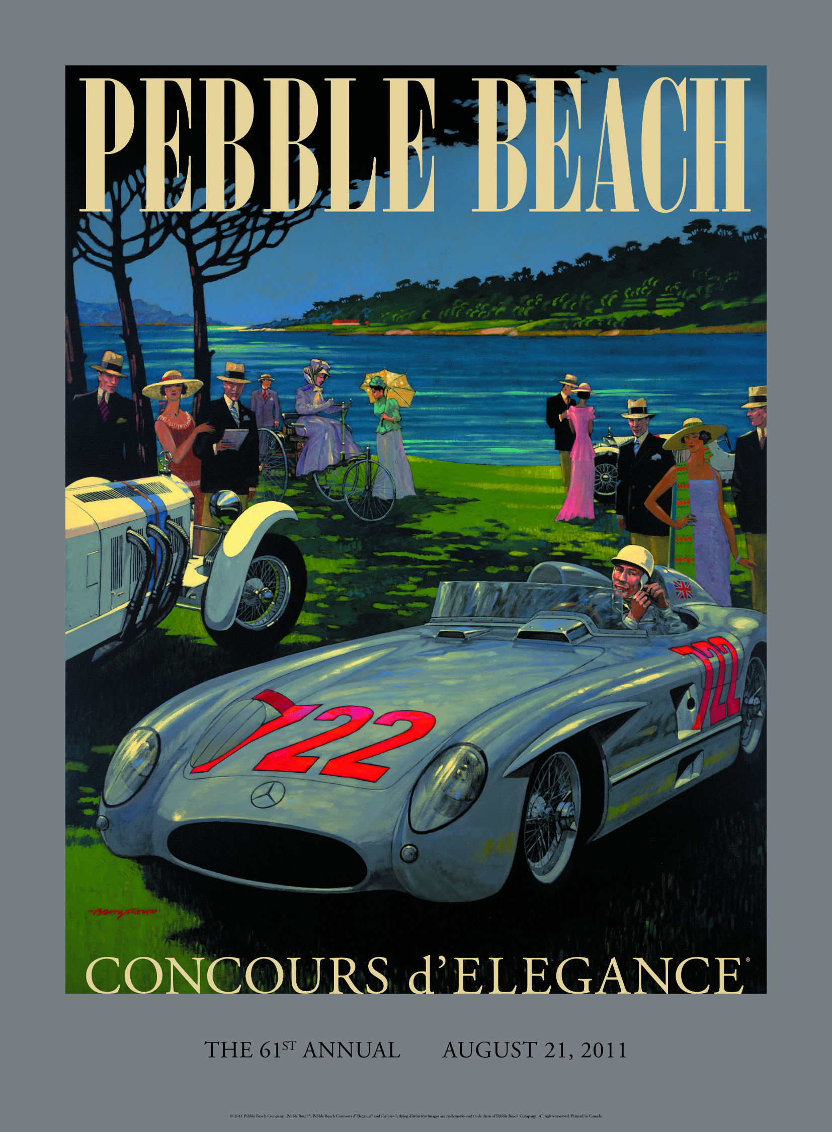 Poster for the 2011 Concours from the Mercedes Benz Club.