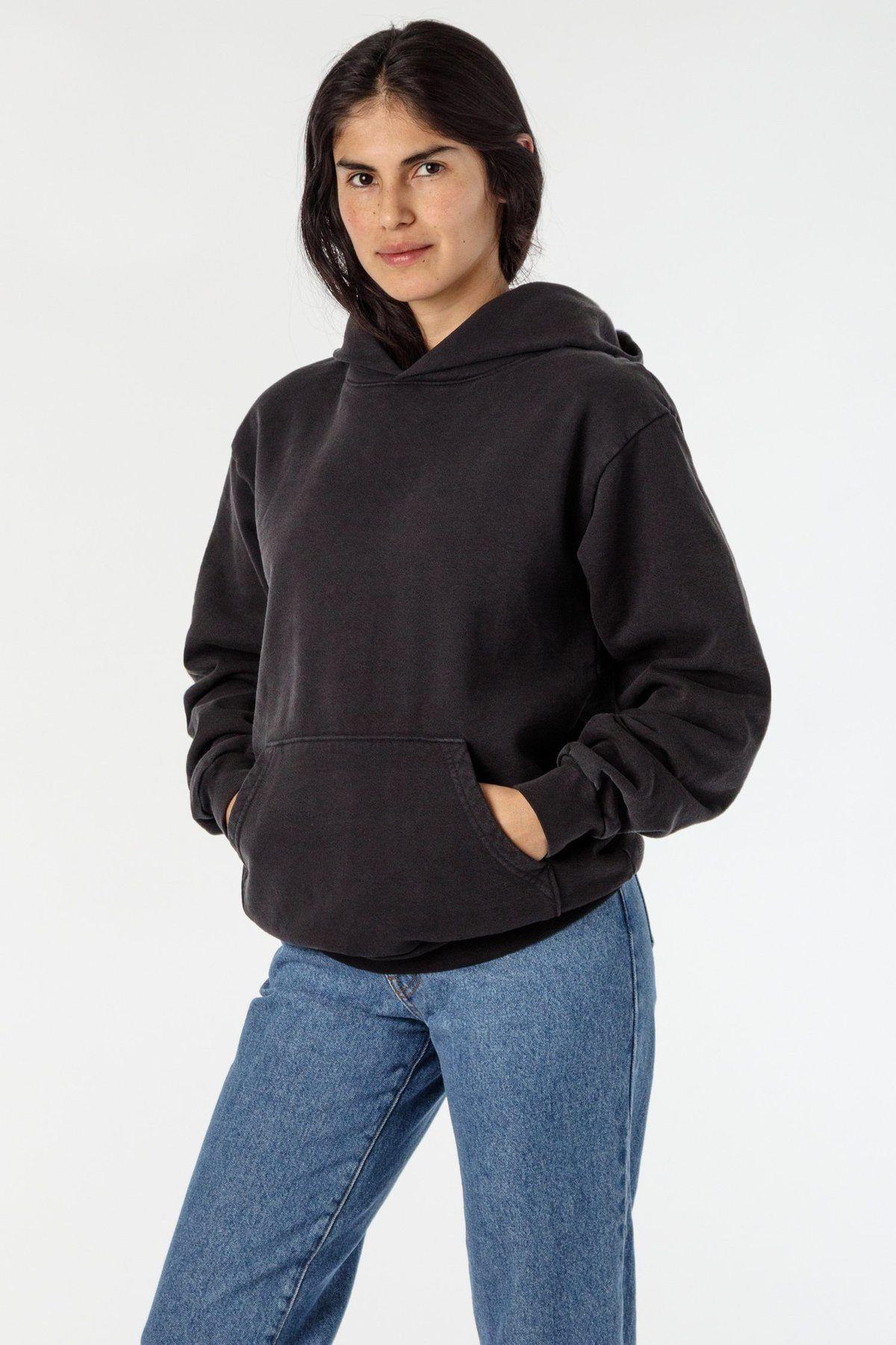 Hf09gd Unisex Garment Dye 14oz Heavy Fleece Hooded Pullover Sweatshirt Hooded Pullover Garment Dye Pullover Sweatshirt