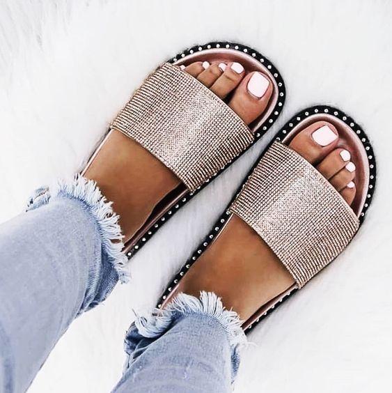 91bd0e1a1ec7  Summer  Footwear Brilliant High Heels Shoes