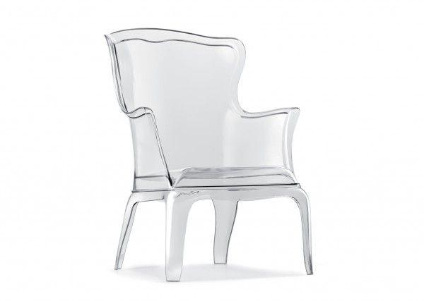 sièges en transparence, siège transparent, fauteuil Pasha, Marco Pocci et Claudio Dondoli, © archiproducts.com