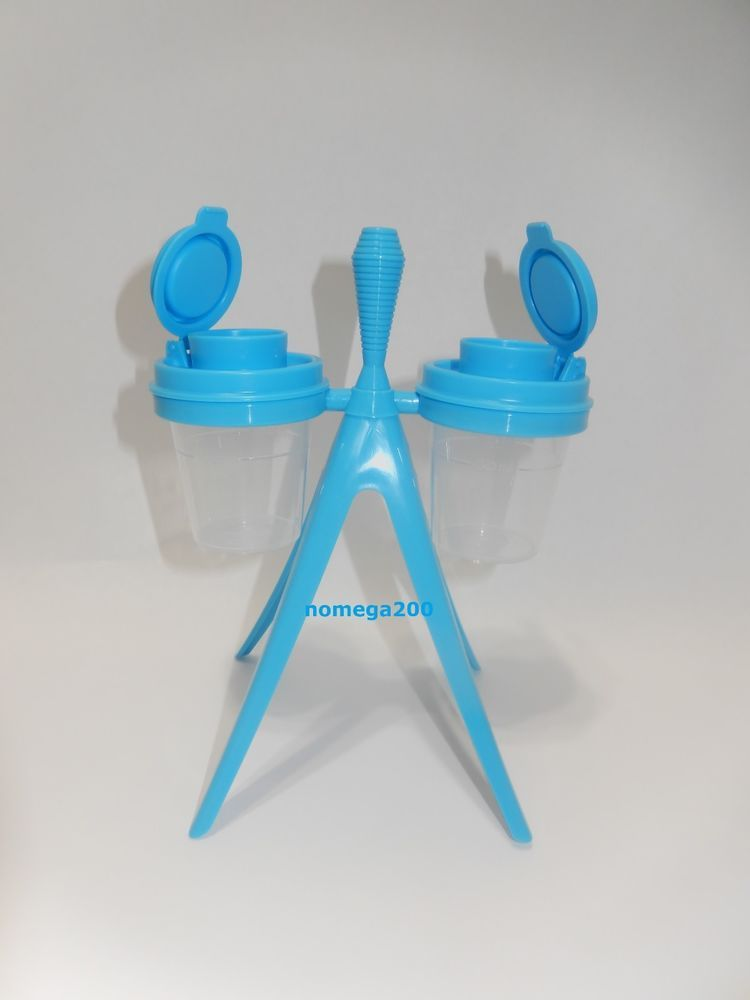 Tupperware New Tupper Minis Salt Pepper Shakers With Caddy Ebay