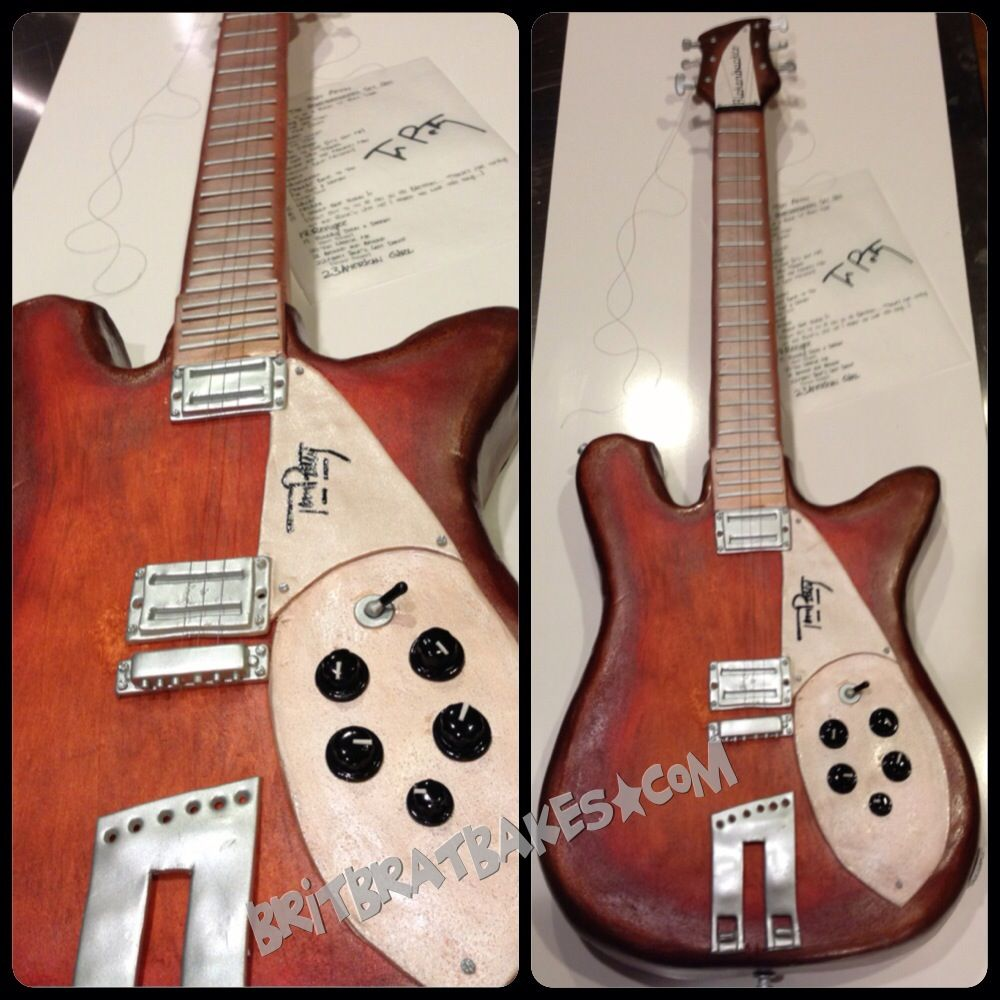 tom petty signature rickenbacker guitar cake by brittney mitchell my stuff. Black Bedroom Furniture Sets. Home Design Ideas