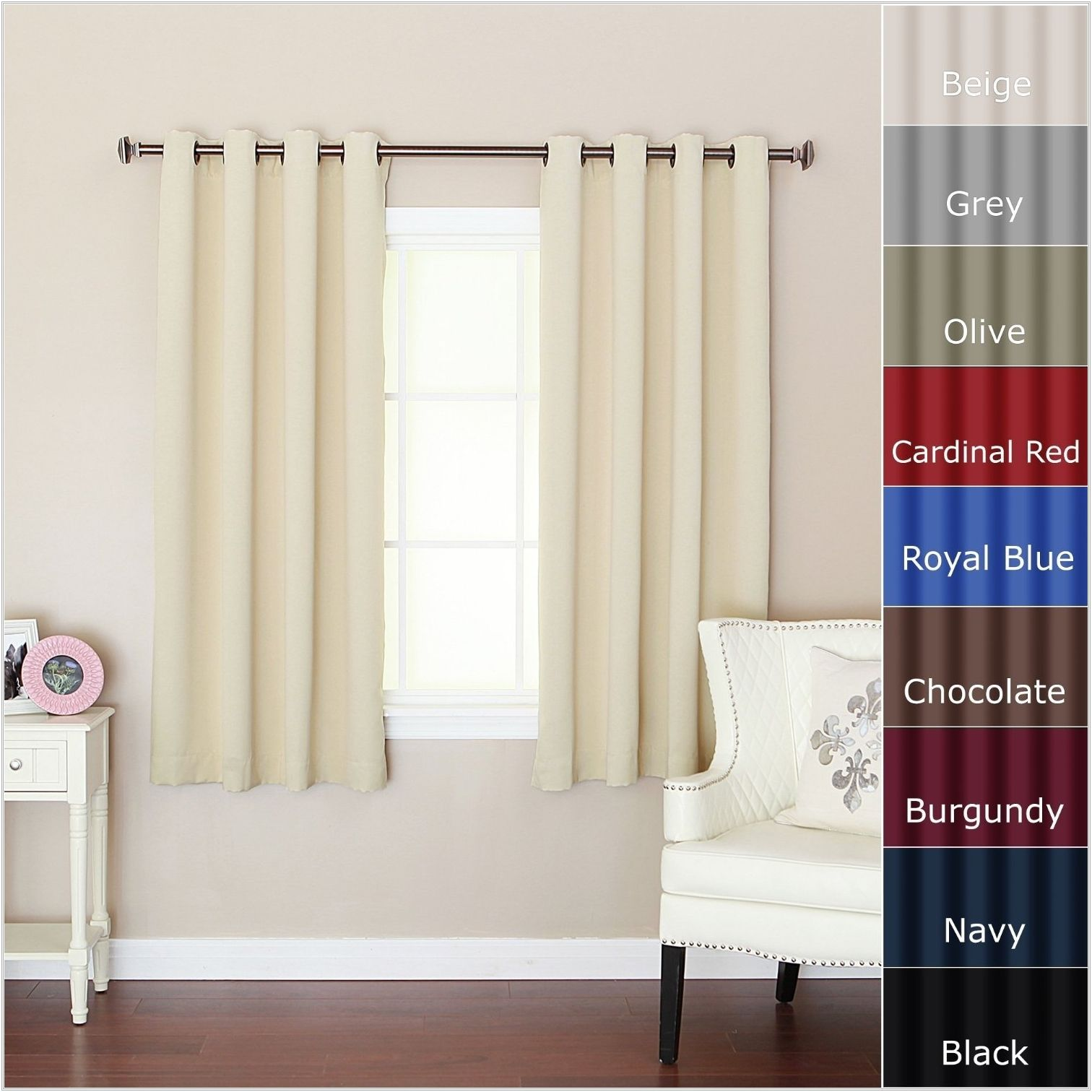 Blackout Curtains For Short Wide Windows Small Window Curtains