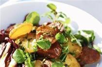 Salade chaude de pommes de terre au chorizo