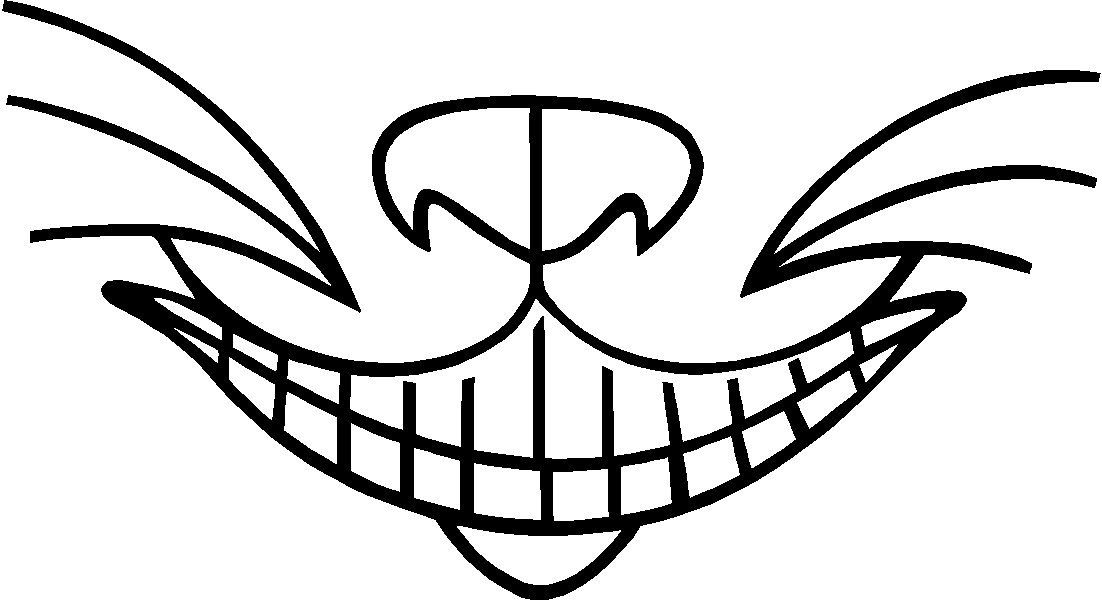 Amazon Com Cheshire Cat Smile Decal Wall Stickers Removable Vinyl Black Home Kitchen Cheshire Cat Smile Cat Outline Smile Drawing