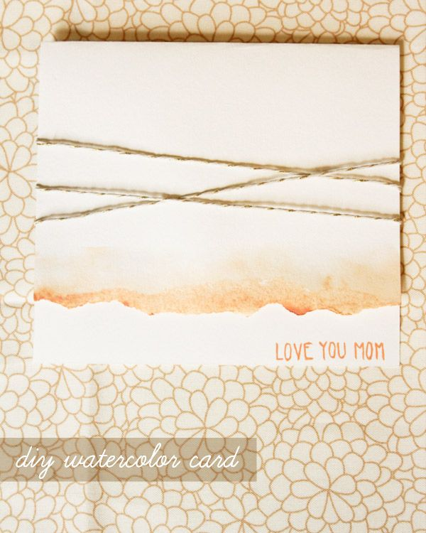 DIY watercolor Mother's Day card  (by Lovely Indeed for The Sweetest Occasion)