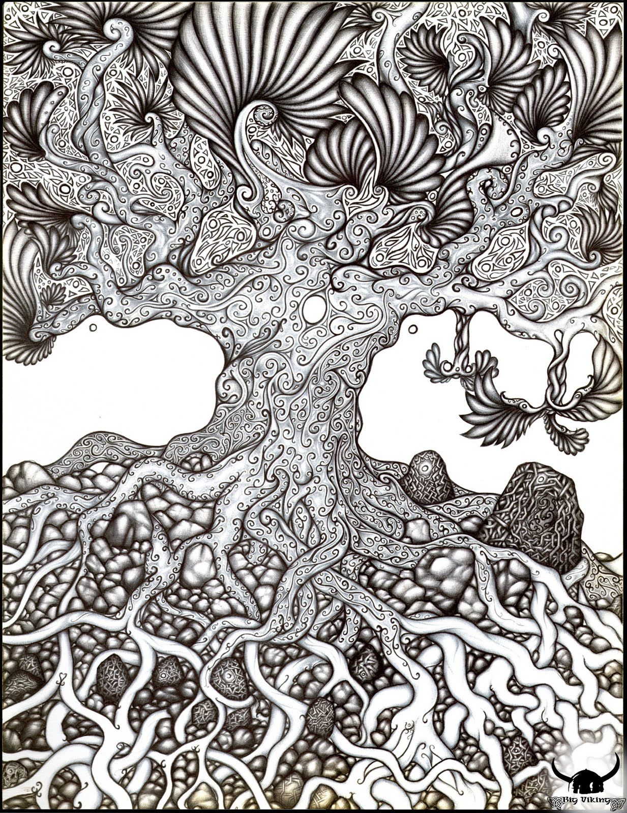 Image Detail For Yggdrasil Ultime Ii Jpg Tangle Art Zentangle Drawings Zentangle