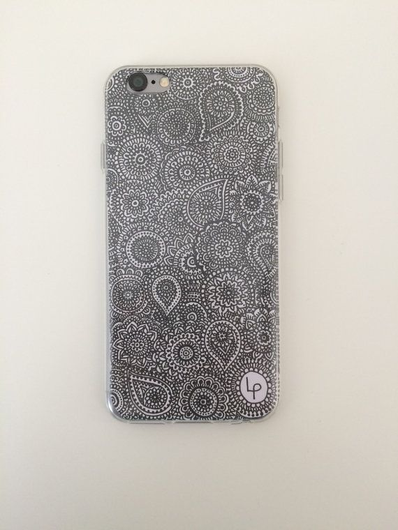 Im Lucinda and I have drawn these patterns and printed onto gloss paper. They are then inserted into a clear silicone phone case that looks beautiful