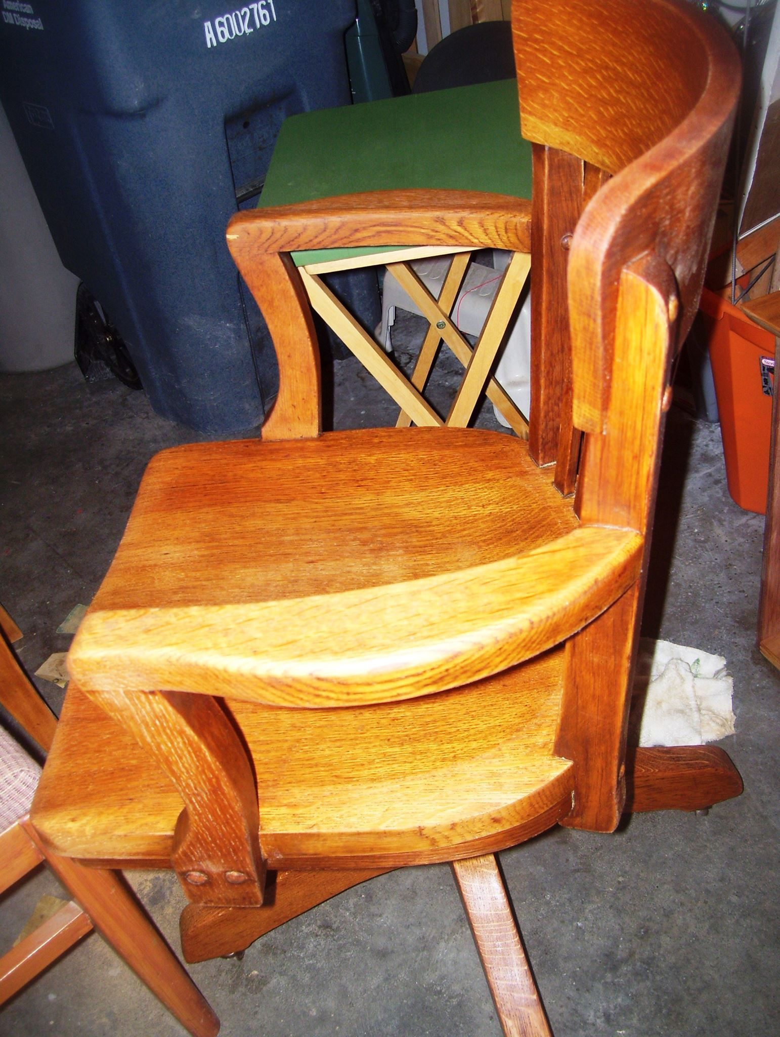 Sanded and cleaned up the old desk chair my dad had in college.