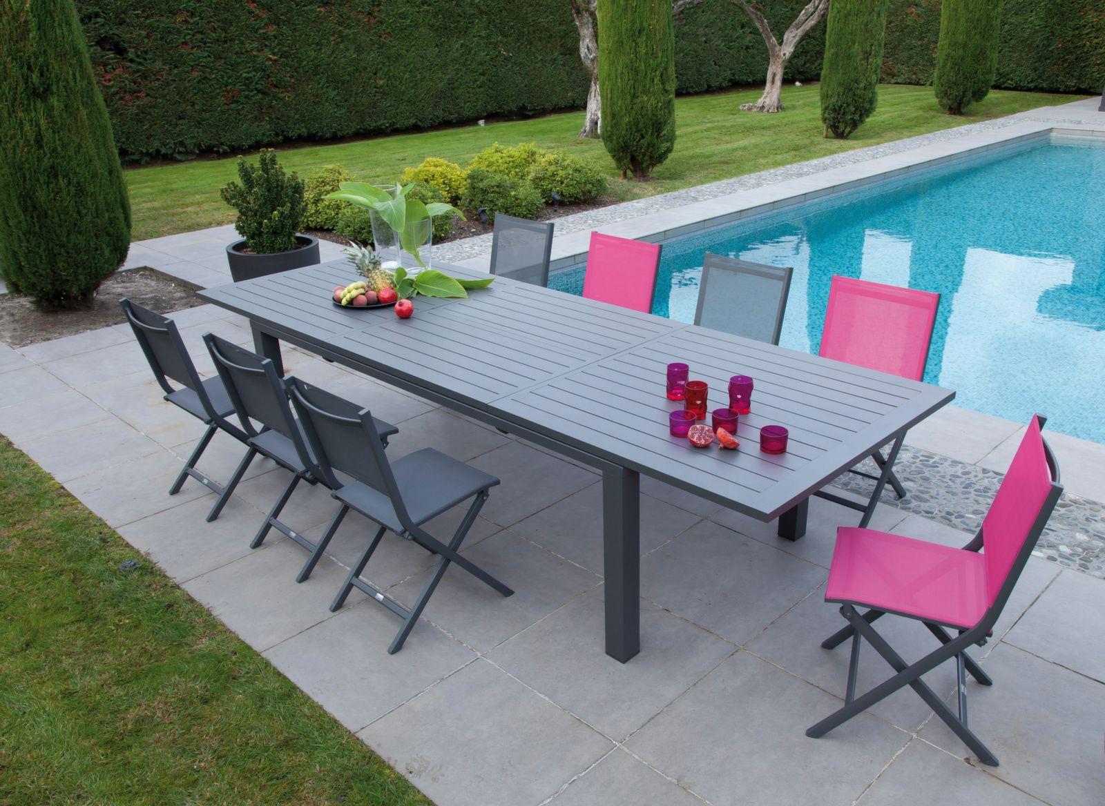 Table De Jardin Elisa 220 320cm Meubles De Jardin Proloisirs
