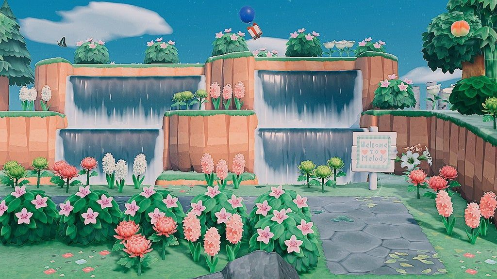 My new front entrance 🌸 AnimalCrossing in 2020 Animal