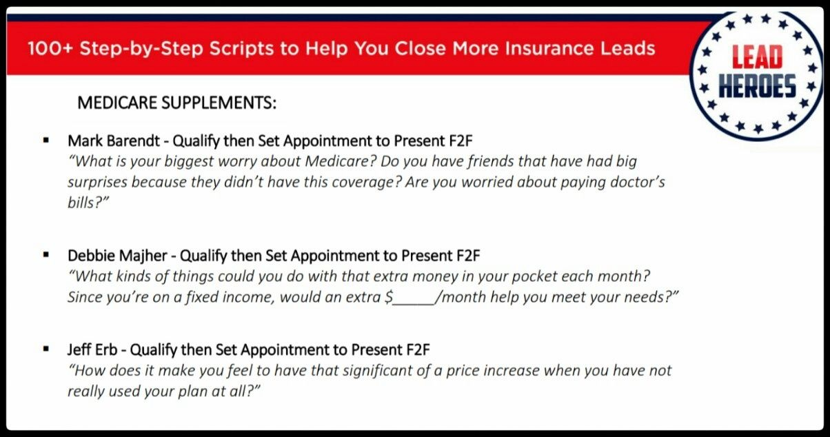 100 Scripts Tips Ch 6 What Questions Do You Ask To Get A Lead Emotionally Involved And Committed To A Medicare Supplement Insurance Sales Insurance