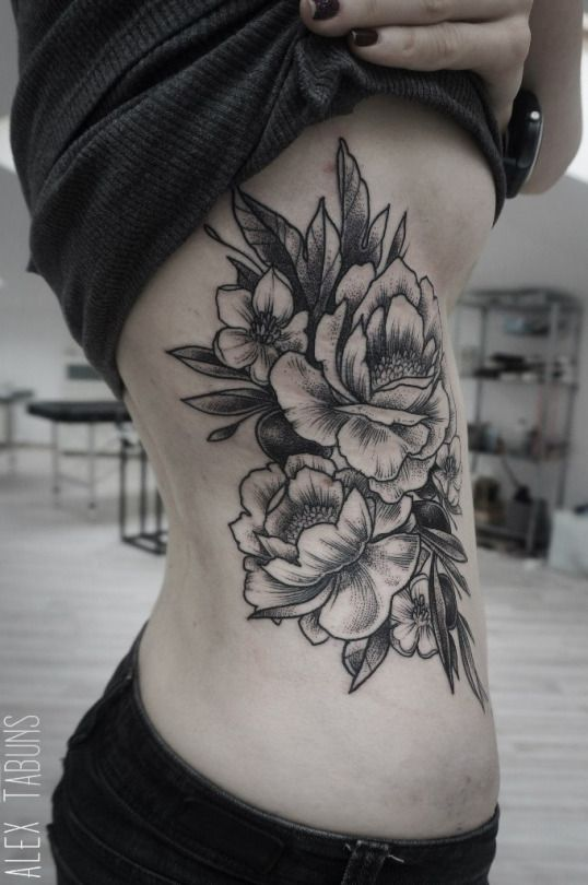 Flowers Floral Ribs Side