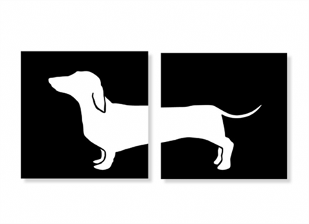 Dachshund Wall Art dachshund silhouette painting@alissa irwin seems like i keep