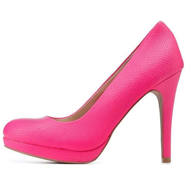 bf5eae25d27 Charlotte Russe CrocTextured Pointed Toe Pumps High heels