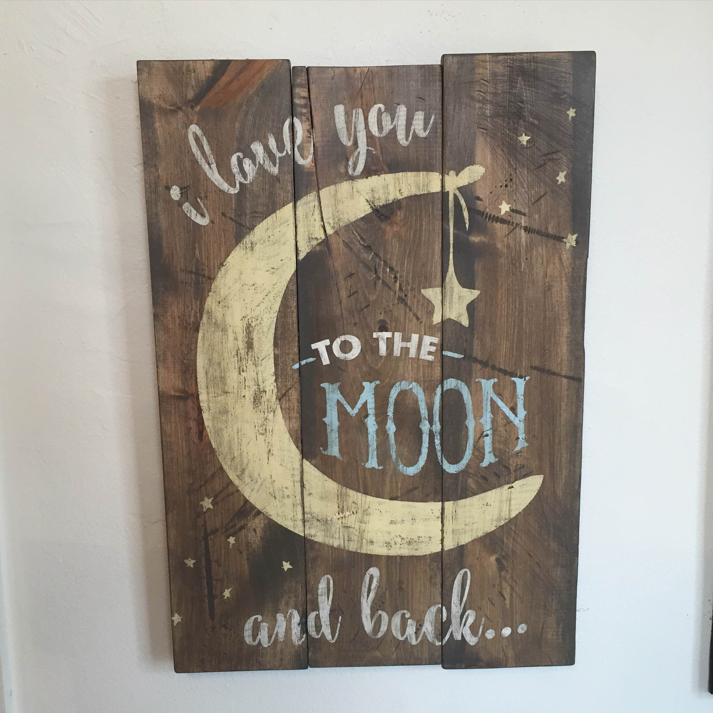 Love You To The Moon And Back Sign Love You To The Moon