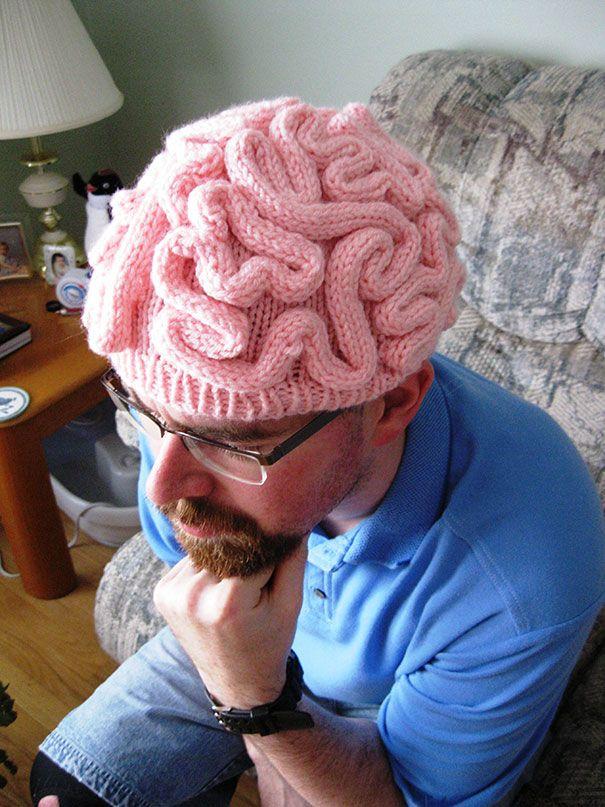2 Cerebro destapado | Tejido | Pinterest | Gorros, Tejido y Frikis