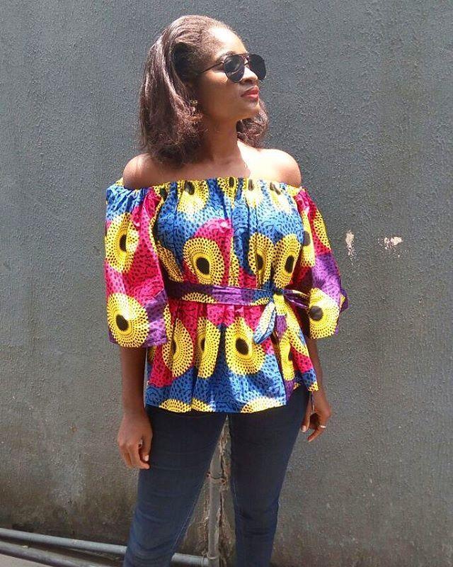 off shoulder top beautiful prints african beauty pinterest pagne mode africaine et. Black Bedroom Furniture Sets. Home Design Ideas