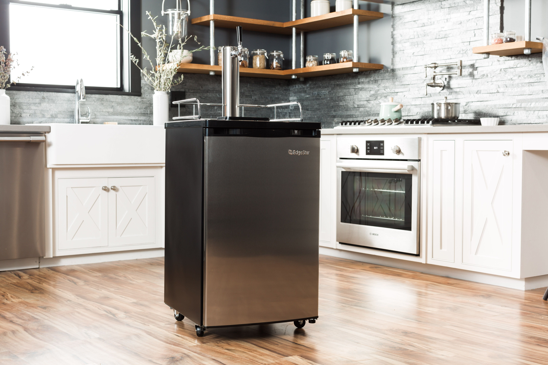 edgestar kc2000 kegerator for sale beer cooler kitchen appliances on outdoor kitchen kegerator id=78237