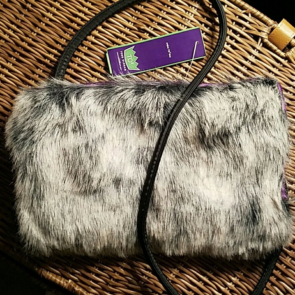{} Todd Oldham Jeans Fuzzy Bag