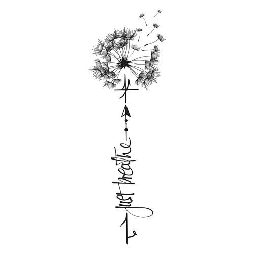 Tattoo Design with dandelion Tattoo contest design#tattoo#contest#picked