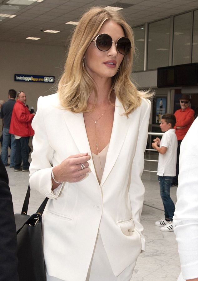 """"""" Rosie arrived at Nice airport in France to pay a visit to the 69th Cannes Film Festival on May 18 """""""