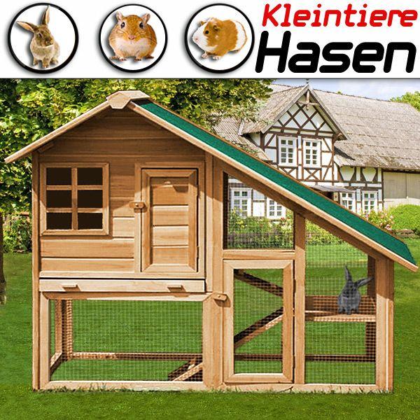 Kaninchenstall XXL HASENSTALL Kaninchenkäfig Freilauf